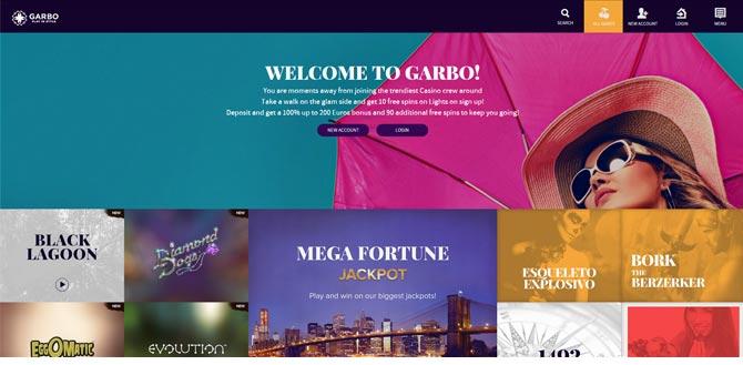 garbo casino bonus